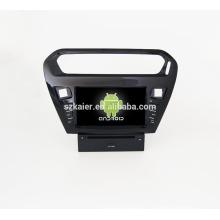 Quad core! Dvd del coche con espejo link / DVR / TPMS / OBD2 para 8 pulgadas de pantalla táctil quad core 4.4 sistema Android PEUGEOT 301
