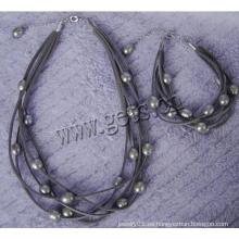 Gets.com 2015 joyería de oro perla medio set