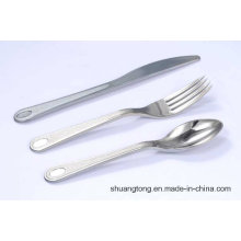 Silver Coated/ Stainless Steel Caoted Plastic Cutlery Set Party Weeding Disposable Flatware Set