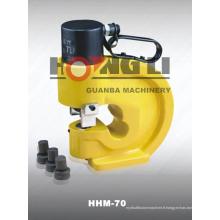 Hongli vente chaude HHM-60 HHM-70 HHM-80 hydraulique Busbar poinçonnage des outils avec CE