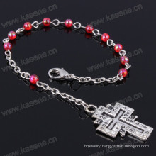 Cheap 4mm Multicolour Plastic Beads Religious Bracelet