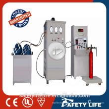 Machine manuelle de remplissage d'extincteur d'anhydride carbonique