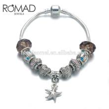 Szelam Gift!!! Fashion DIY Crystal&Glass Beads Charm Bracelets For Women Snake Chain Bracelets & Bangles Pulsera