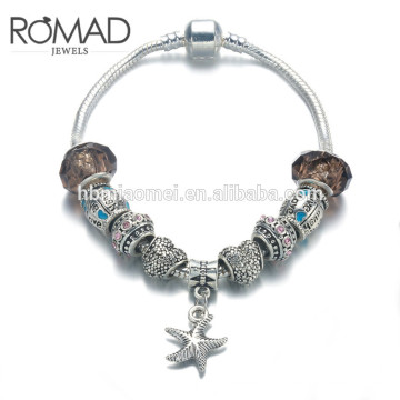 Szelam Gift !!! Moda DIY Crystal & Glass Beads Charme Pulseiras Para As Mulheres Cobra Cadeia Pulseiras & Bangles Pulsera