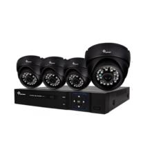 Kit de DVR AHD de 4 canales con infrarrojos Plug & Play