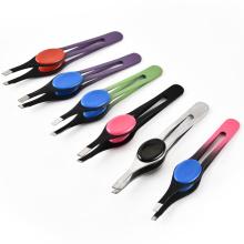 Factory supply beauty makeup eyebrow tweezers Multi-functional brows clip Makeup tweezers