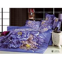 Satin Bed Cover Capa de Almofada Flat Folha 3D Oriental Printing China Fabricante