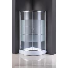 Porte coulissante en verre simple de pièce de douche