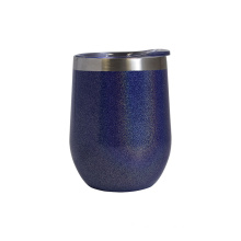 Insulated vacuum travel mug stainless steel double wall