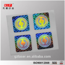Warranty Hard dot matrix hologram sticker for product authentication
