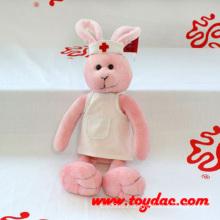 Плюшевая футболка с кроликом