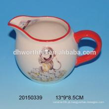 Copo de leite de cerâmica design lindo macaco