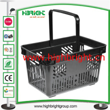 Grocery Store Retail Plastic Hand Shopping Basket for Mini Shop