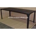Industrial Metal Rivet Dining Table Dark Black Matt Color
