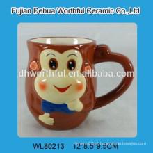 Caneca cerâmica do macaco da alta qualidade, copo de cerâmica do macaco, caneca de café cerâmica
