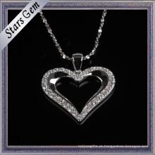 Romatic Coração Forma Cubic Zirconia Necklace Fashion Jewellry