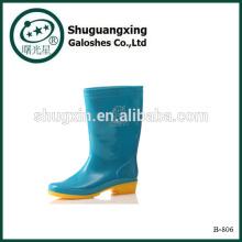 Дождь сапоги резинки для мужчин мода Сапоги ПВХ дождя сапоги человек дождя сапоги B-806