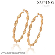 90436-Xuping Hot Sales 18K Gold Hoop Earrings of Brass Jewelry With High Quality