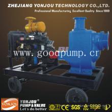 Pompe d'égout sans colmatage de remorque de 4 '' avec moteur diesel