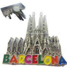 Weltstadt-Andenken-kundenspezifischer Metallkühlraum-Magnet