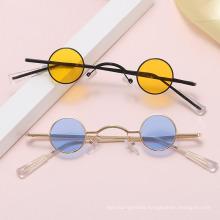 Fashion Punk Style Round Frame Sunglasses Retro Small Frame Harajuku Sunglasses