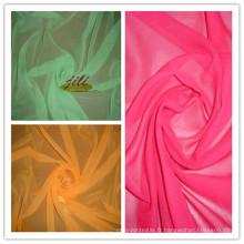 Tissu de voile teint par 100% de polyester 60s pour l'écharpe