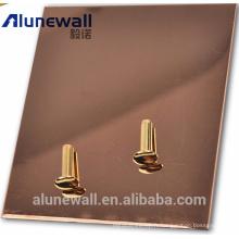 Panneau en polyuréthane composite Alunewall avec surface en acier inoxydable / aluminium