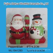 Lovely Christmas ceramic salt pepper shaker set