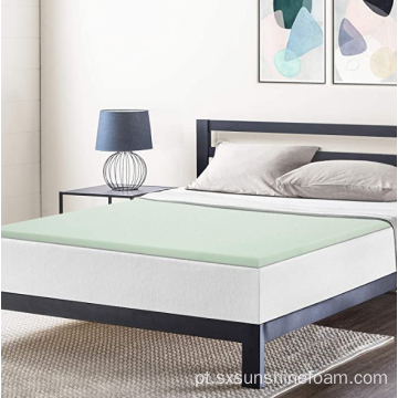 "1,5 ""Chá Verde Memory Foam Topper King"