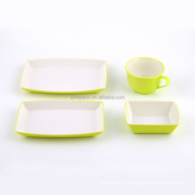 Wholesale colorful cheap reusable plastic dinnerware for inflight