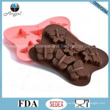 Molde caliente Si24 del chocolate de la silicona de la herramienta de la torta de la mariposa de la venta