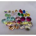Colorful Rhienstone Oval Shape for Jewelry Decoration (DZ-3002)
