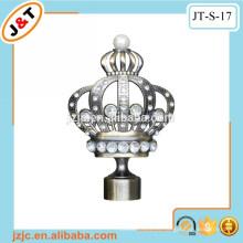 Corona del diamante de la alta calidad finial cortina barra cortina gancho de la cortina del poste