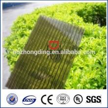 Класс дешевый бронзовый лист полости поликарбоната с UV покрытием