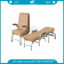 AG-AC005 metal comfortable mattress bed hospital commode chair