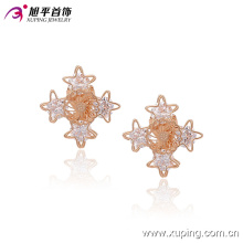 Mode Belle CZ Crystal Star imitation bijoux Clip sur boucle d'oreille -90955