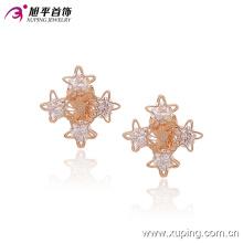 Moda agradável cz cristal estrela imitação jóias clipe no brinco -90955