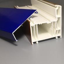 Profilé PVC série 70 mm enduit d'aluminium