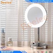 Miroir cosmétique de vanité de table de salle de bains LED avec le cadre acrylique