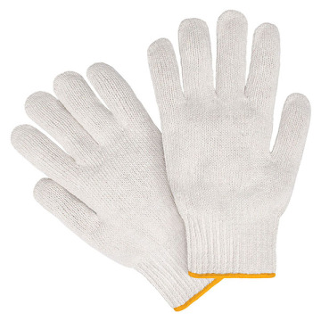Basic White Cottom Knitting Arbeitshandschuh