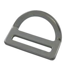 """227 Galvanisierter Stahl 2 """"Single Slot Bent D-Ring"""