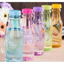 Kunststoff mit Druck beaufschlagt Flasche, Originalität Plastikbecher