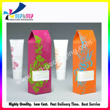2016 Folding Style Cosmetic Card Box with Flower Design