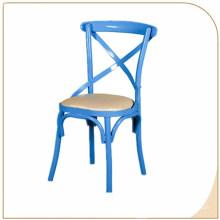 En gros Bonne qualité Prix usine X Retour Chaise en métal Chaise à dossier croisé