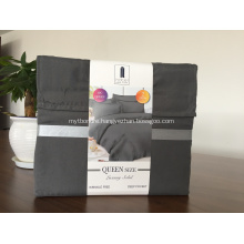 Wrinkle Free Solid Color Brushed Fabric Bedding Sheet