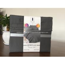 Faltenfreie einfarbige Bettwäsche aus gebürstetem Stoff