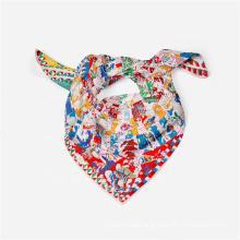 High Quality Designer Inspired Floral Printed Square Satin Bandana Scarf  Lady Fashion Headband Neck Scarves