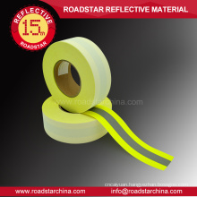 Flame retardant reflective tape with 100% cotton base