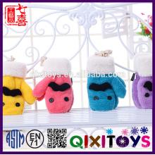 Conjunto de guantes de felpa de felpa animal conjunto de guantes de bufanda