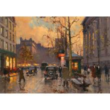 Moderne abstrakte Paris Frankreich Gemälde